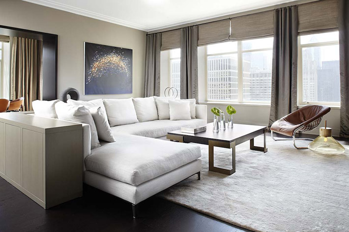 Ritz-Carlton Residences, Chicago. Interior by Kinari Design. Photography by Werner Straube