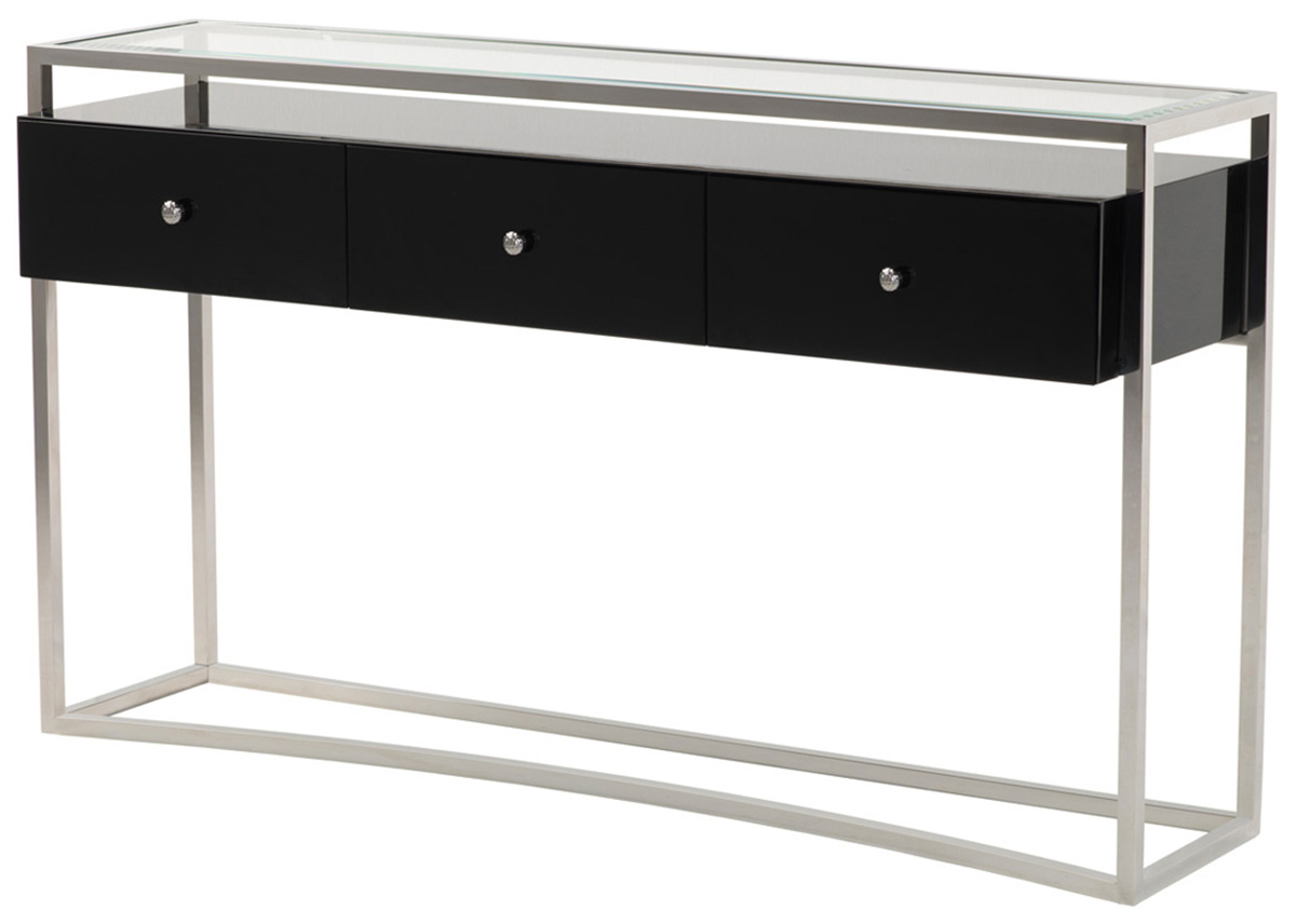 Striata Console Table with Drawers, Console Tables ...