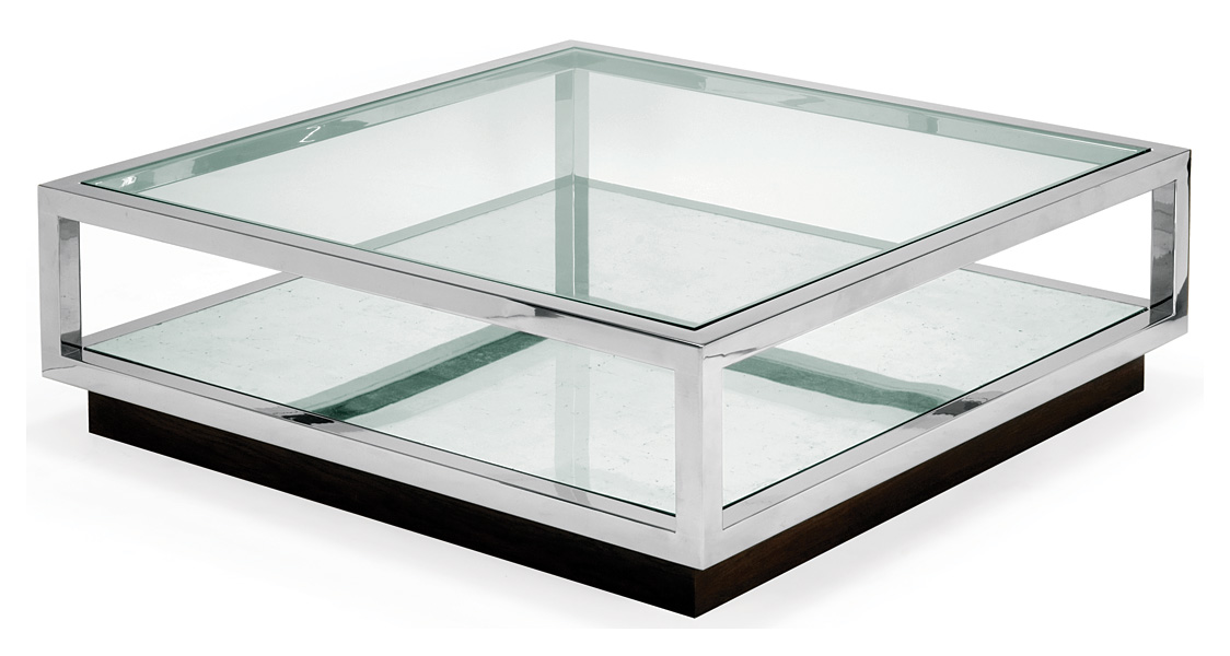 steel and glass furniture. polished stainless steel with silver mirror lower shelf and glass top 1400mm x 420mm h furniture