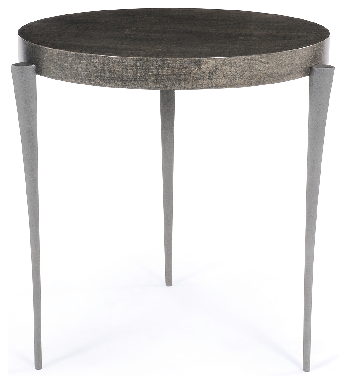 Textured pewter with grey maple top  500mm dia x 600mm h. Juno Side Table  Side Tables  Furniture  Decorus Furniture