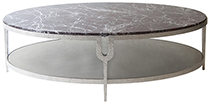 Carlton Oval Coffee Table With Stone