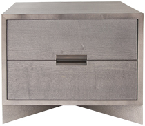 Bespoke Grey Maple Nightstand