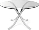 Sofia Dining Table - Polished Stainless Steel